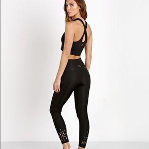 Beyond Yoga Leggings with Laser Cutouts Sz Large